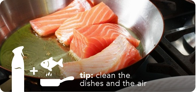 tip: clean the dishes and the air