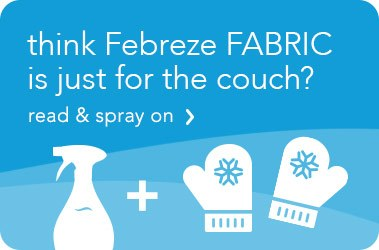 Think Fabric Refresher is just for the couch? Read & spray on.