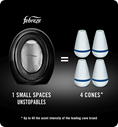 1 SMALL SPACES Unstopables = 4 cones. Up to 4x the scent intensity of the leading cone brand
