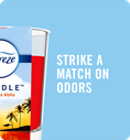 Strike a match on odors