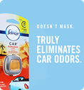 Doesn't mask. Truly eliminates car odors