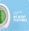 Freshens with no heavy perfumes
