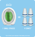 1 small space equals 4 cones