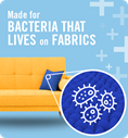 Made for bacteria that lives on fabrics