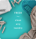 Fresh. Clean, airy, laundry