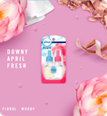 Downy April Fresh. Floral. Woody.