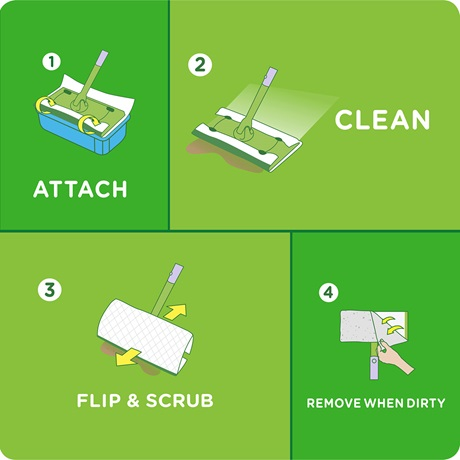 Swiffer 174 Sweeper Pet Heavy Duty Wet Mopping Cloth Refills