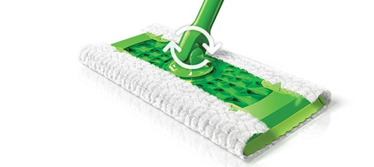 Swiffer Sweeper Floor Mop Starter Kit Wet Cloth