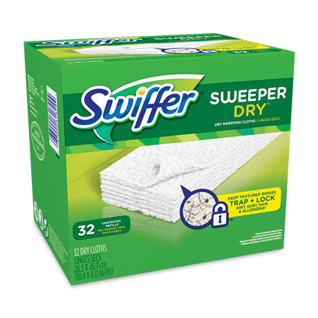 Sweeper Dry Pad Refills Unscented Swiffer