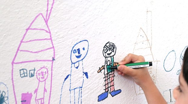how to clean permanent markers off walls