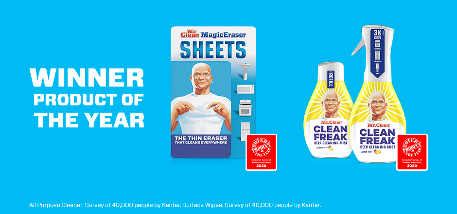 Mr. Clean Magic Eraser Sheets & Clean Freak Winners Product of the Year