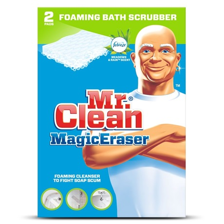 Mr Clean Magic Eraser Foaming Bath Scrubber With Febreze Meadows
